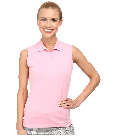 Nike Golf - Victory Sleeveless Polo (Perfect Pink/White) Women's Short Sleeve Knit