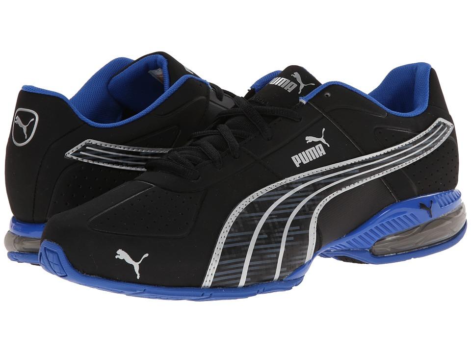 PUMA - Cell Surin Glitch (Black/Puma Silver/Strong Blue) Men's Shoes