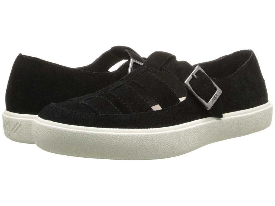 Naya - Juniper (Black Suede) Women's Slip on Shoes