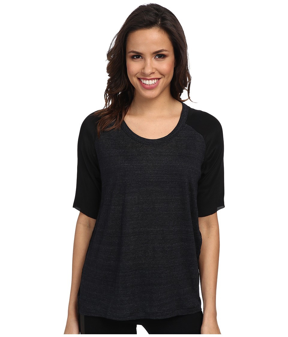 Joe's Jeans - Pearl Tee (Heather Black) Women's Short Sleeve Pullover