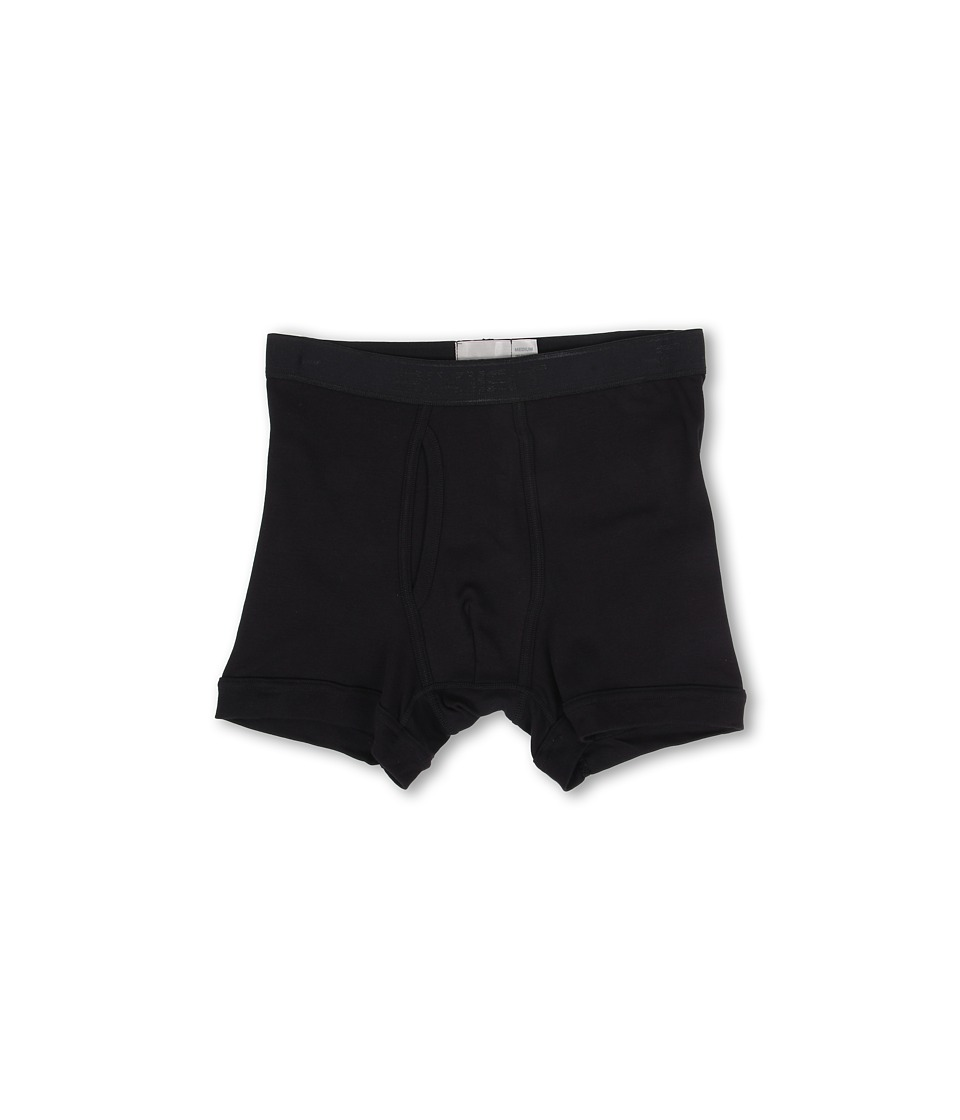 2(X)IST - Pima Boxer Brief (Black) Men's Underwear