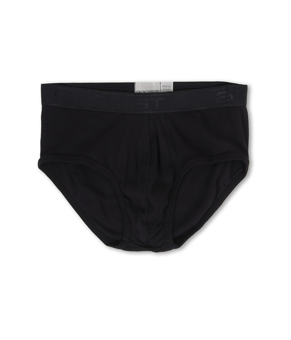 2(X)IST - Pima Contour Pouch Brief (Black) Men's Underwear