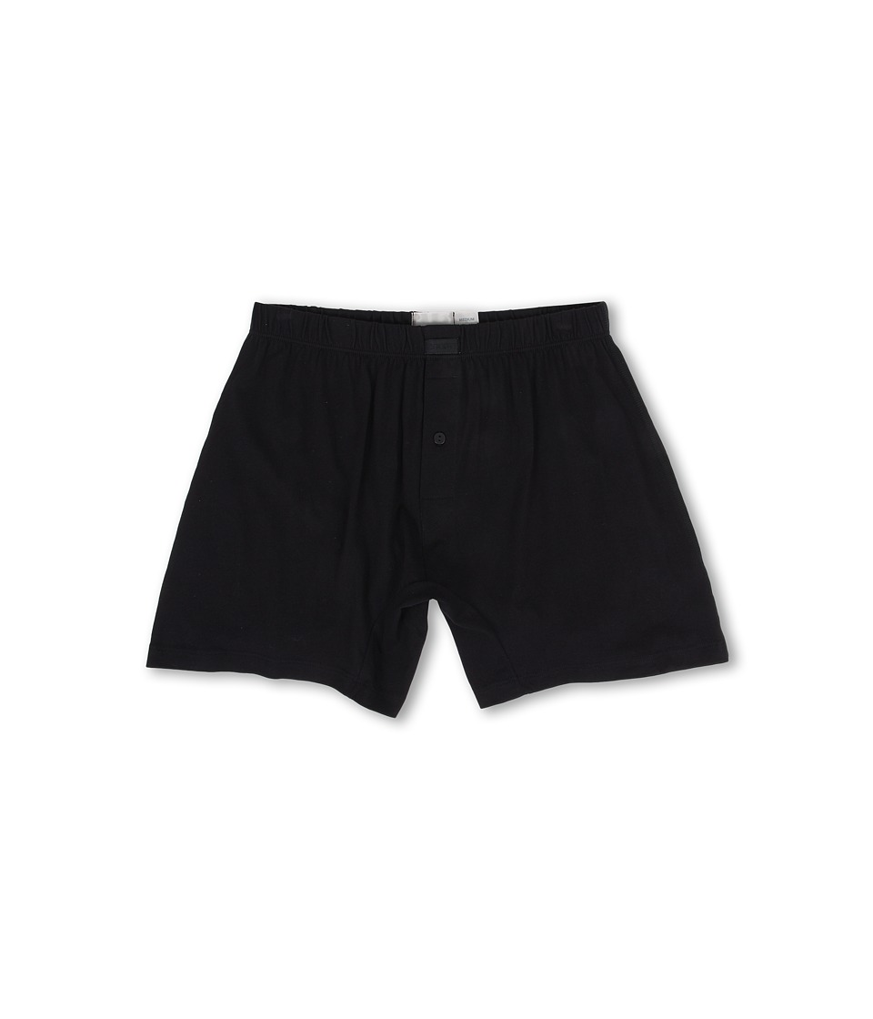 2(X)IST - Pima Knit Boxer (Black) Men's Underwear