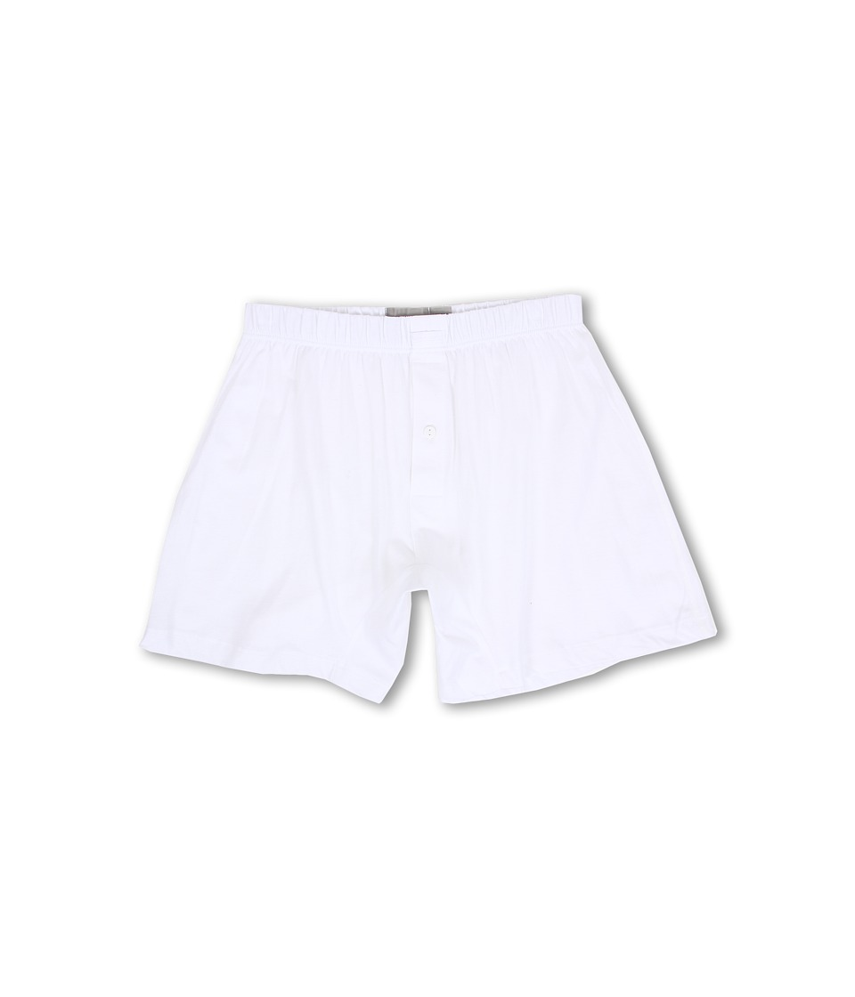 2(X)IST - Pima Knit Boxer (White) Men's Underwear