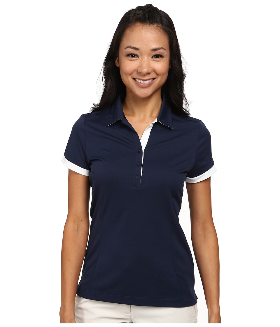 Nike Golf - Victory Block Polo (College Navy/College Navy/White) Women's Short Sleeve Knit