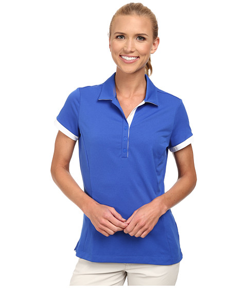 Nike Golf - Victory Block Polo (Game Royal/Game Royal/White) Women's Short Sleeve Knit