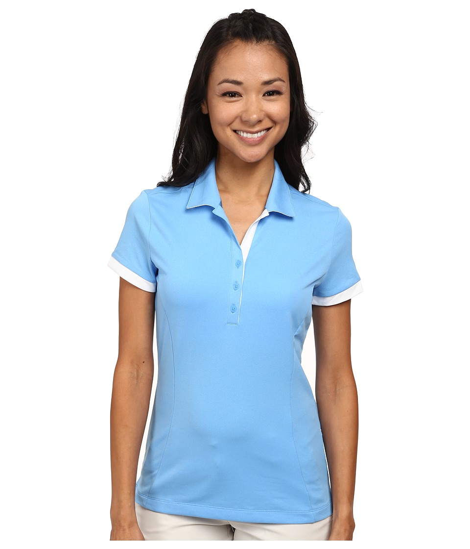Nike Golf - Victory Block Polo (University Blue/University Blue/White) Women's Short Sleeve Knit