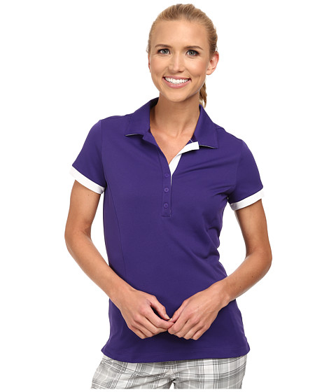 Nike Golf - Victory Block Polo (Court Purple/Court Purple/White) Women's Short Sleeve Knit