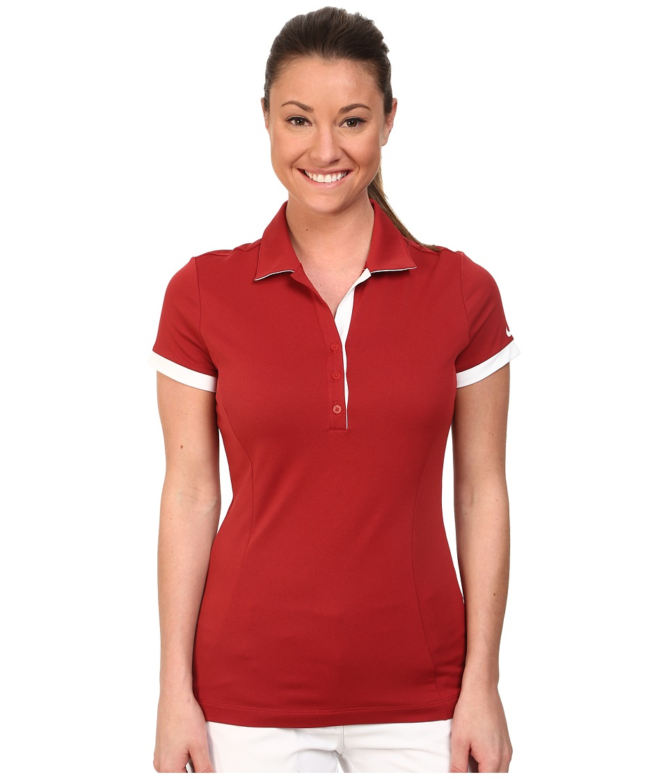 Nike Golf - Victory Block Polo (Team Crimson/Team Crimson/White) Women's Short Sleeve Knit