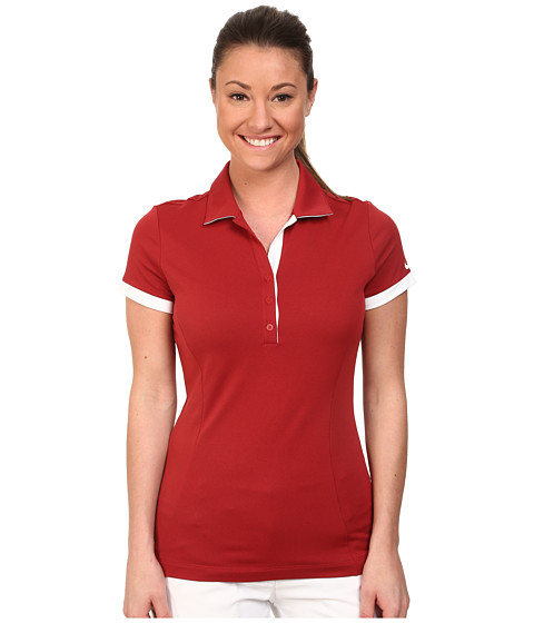 Nike Golf - Victory Block Polo (Team Crimson/Team Crimson/White) Women