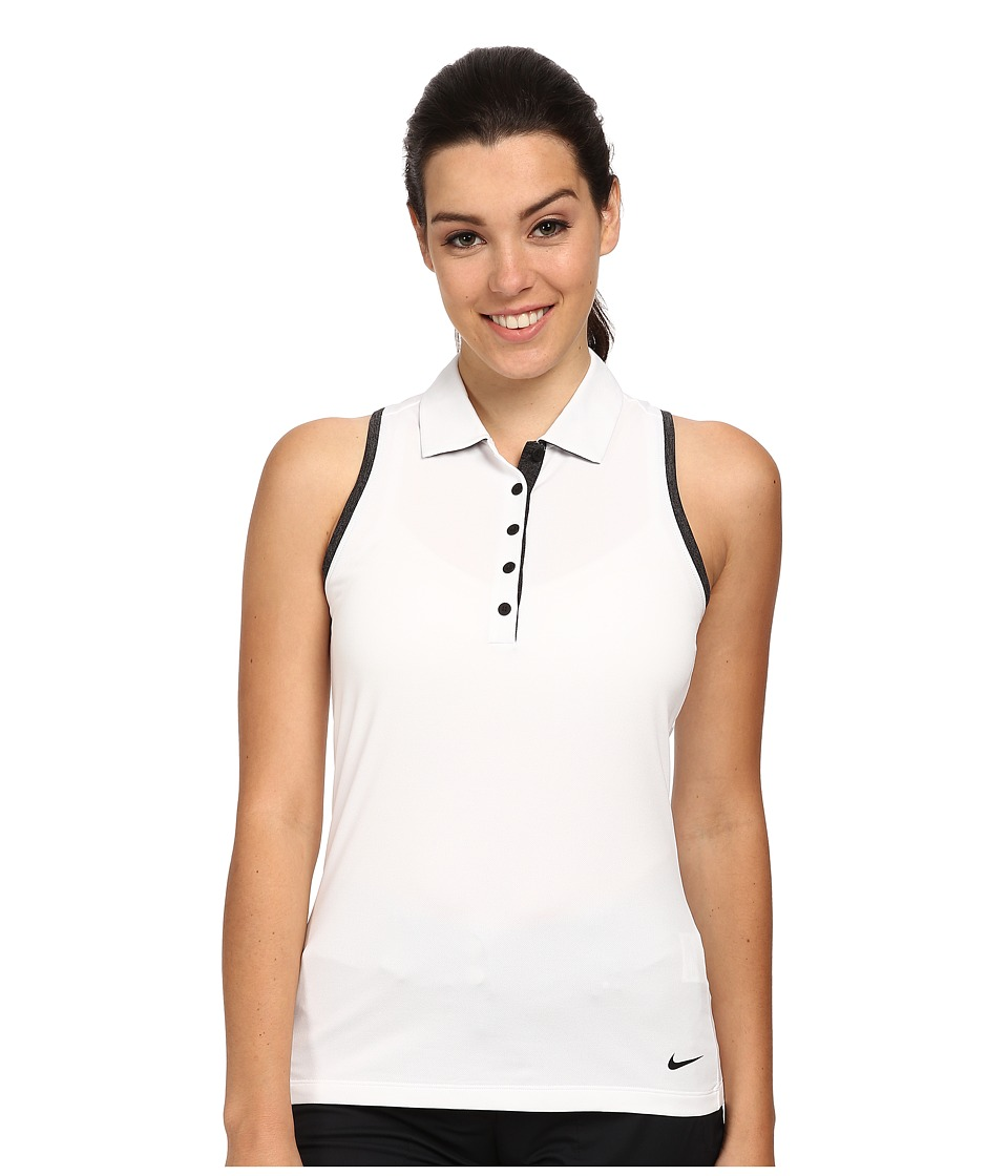 Nike Golf - Victory Block Racerback (White/Wolf Grey) Women's Sleeveless
