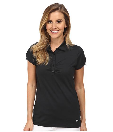 Nike Golf - Mini Stripe Polo (Black/Wolf Grey) Women