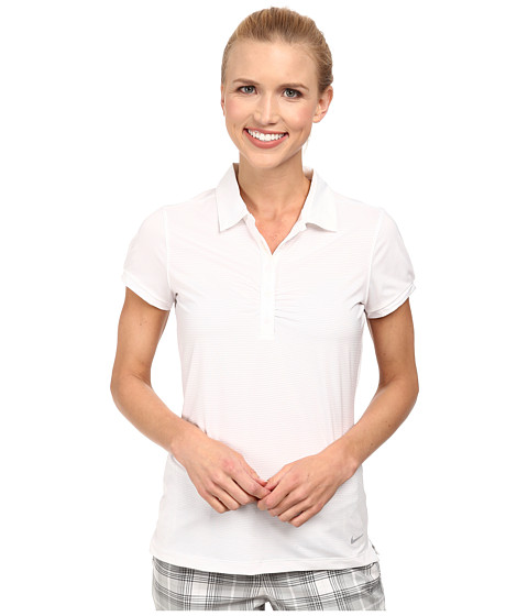 Nike Golf - Mini Stripe Polo (White/Wolf Grey) Women