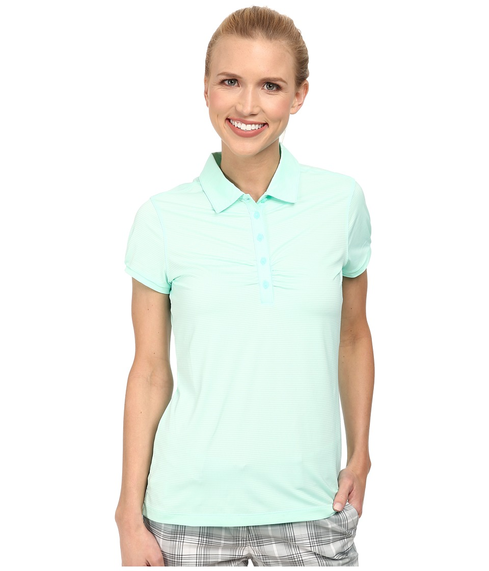 Nike Golf - Mini Stripe Polo (Artisan Teal/Light Retro) Women's Short Sleeve Knit