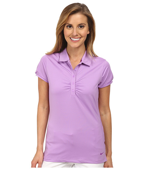 Nike Golf - Mini Stripe Polo (Violet Shock/Hot Lava) Women's Short Sleeve Knit