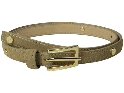 Vince Camuto - 16MM Suede Panel W/ Screw Rivets (Tan) Women's Belts