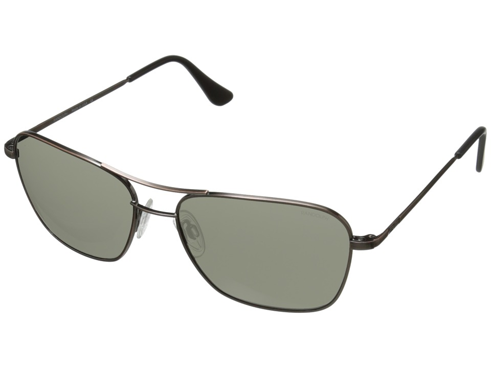 Randolph - Corsair 58MM (Antique Bronze/Gray Glass) Fashion Sunglasses