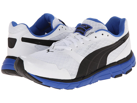 PUMA - Poseidon (White/Black/Strong Blue) Men