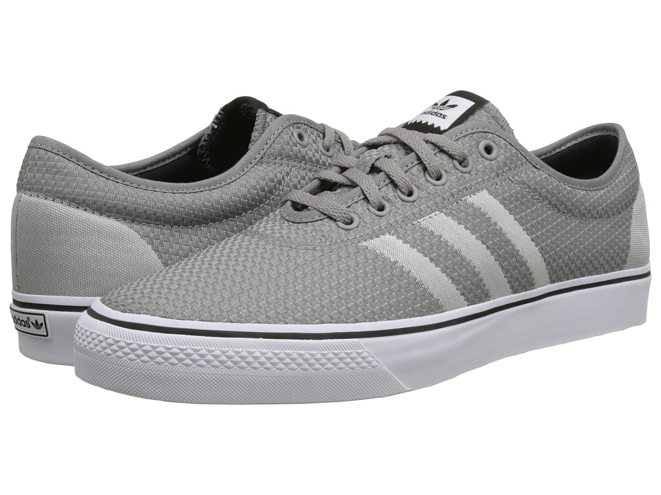 adidas - Adi-Ease Woven (Solid Grey/White/Core Black) Men's Skate Shoes