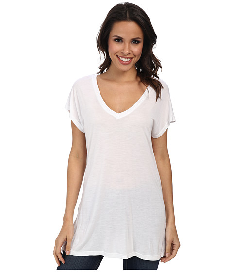 Allen Allen - S/S V-Neck Tee (White) Women