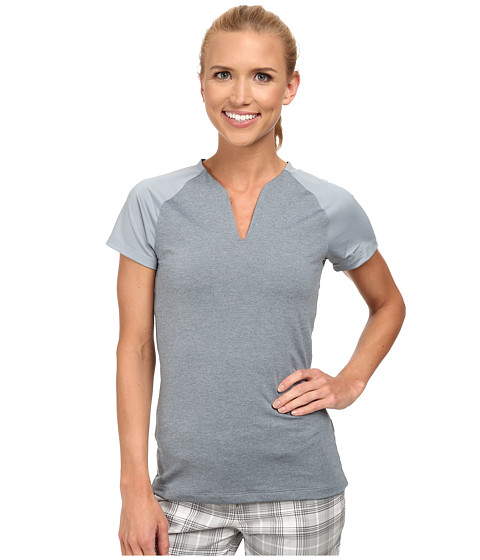 Nike Golf - Tour Mesh Top (Dove Grey/White) Women's Short Sleeve Pullover