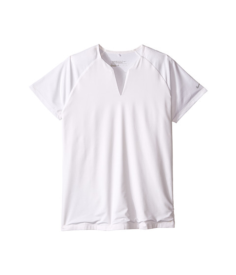 Nike Golf - Tour Mesh Top (White/Wolf Grey) Women's Short Sleeve Pullover