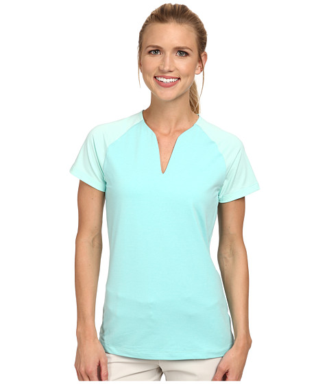 Nike Golf - Tour Mesh Top (Artisan Teal/Sunset Glow) Women's Short Sleeve Pullover