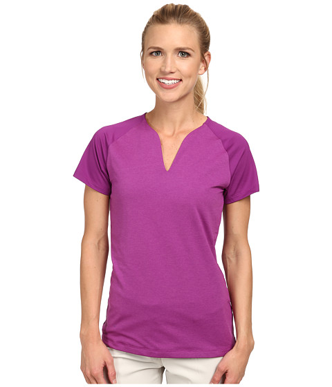 Nike Golf - Tour Mesh Top (Bold Berry/Violet Shock HT) Women's Short Sleeve Pullover
