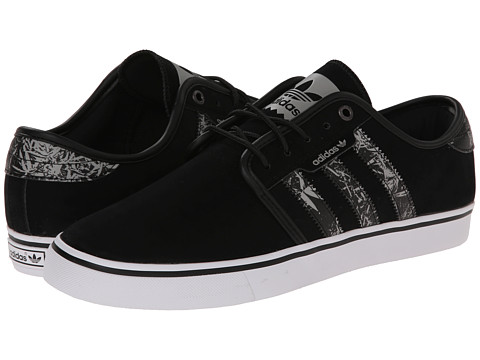 adidas Skateboarding - Seeley Bamboo Print (Core Black/White/Solid Grey) Men