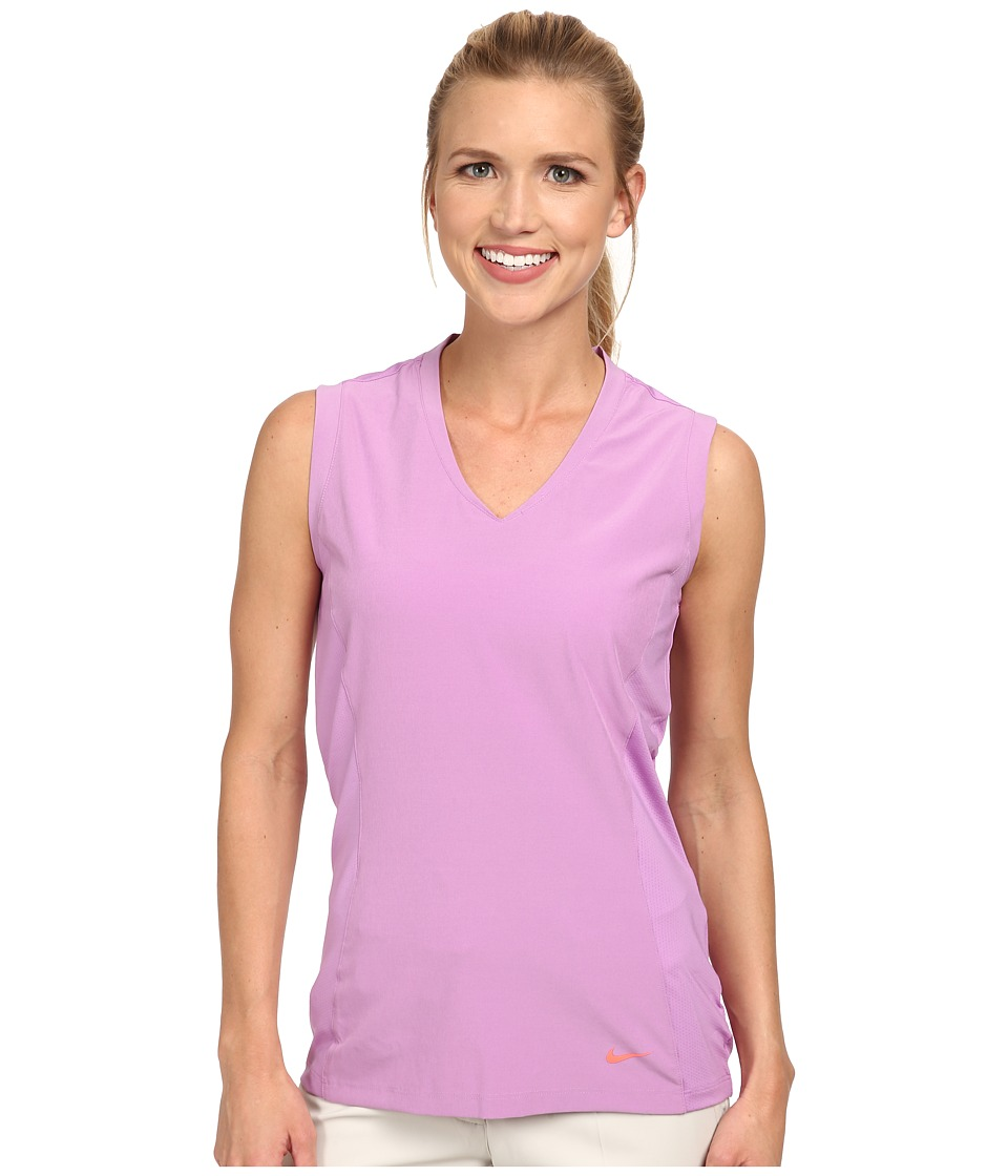 Nike Golf - Tour Mesh Sleeveless (Violet Shock/Hot Lava) Women's Sleeveless