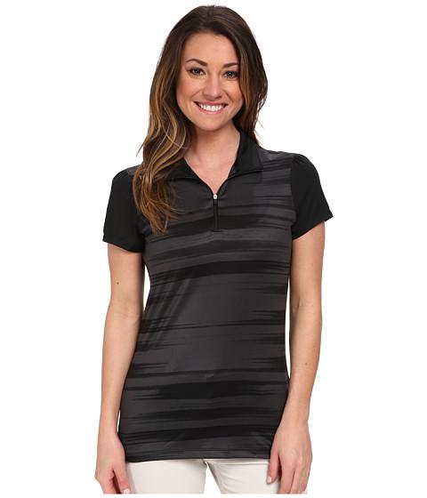 Nike Golf - Swing Stripe Mock (Black/Black) Women