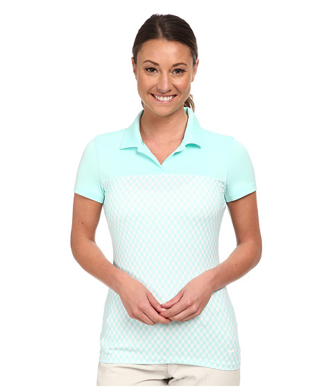 Nike Golf - Gingham Impact Polo (Artisan Teal/Artisan Teal/White) Women