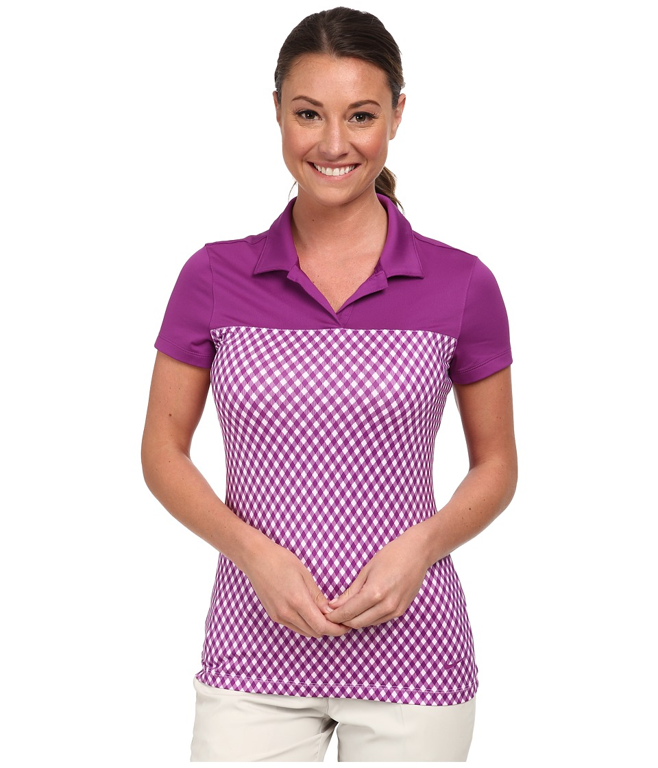 Nike Golf - Gingham Impact Polo (Bold Berry/Bold Berry/Bold Berry) Women's Short Sleeve Knit