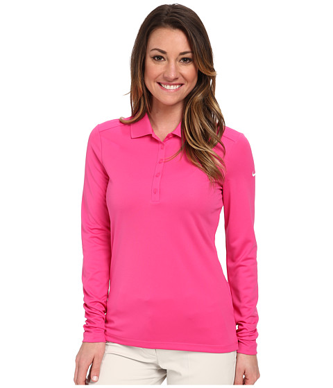 Nike Golf - Victory L/S Polo (Hot Pink/White) Women's Long Sleeve Pullover