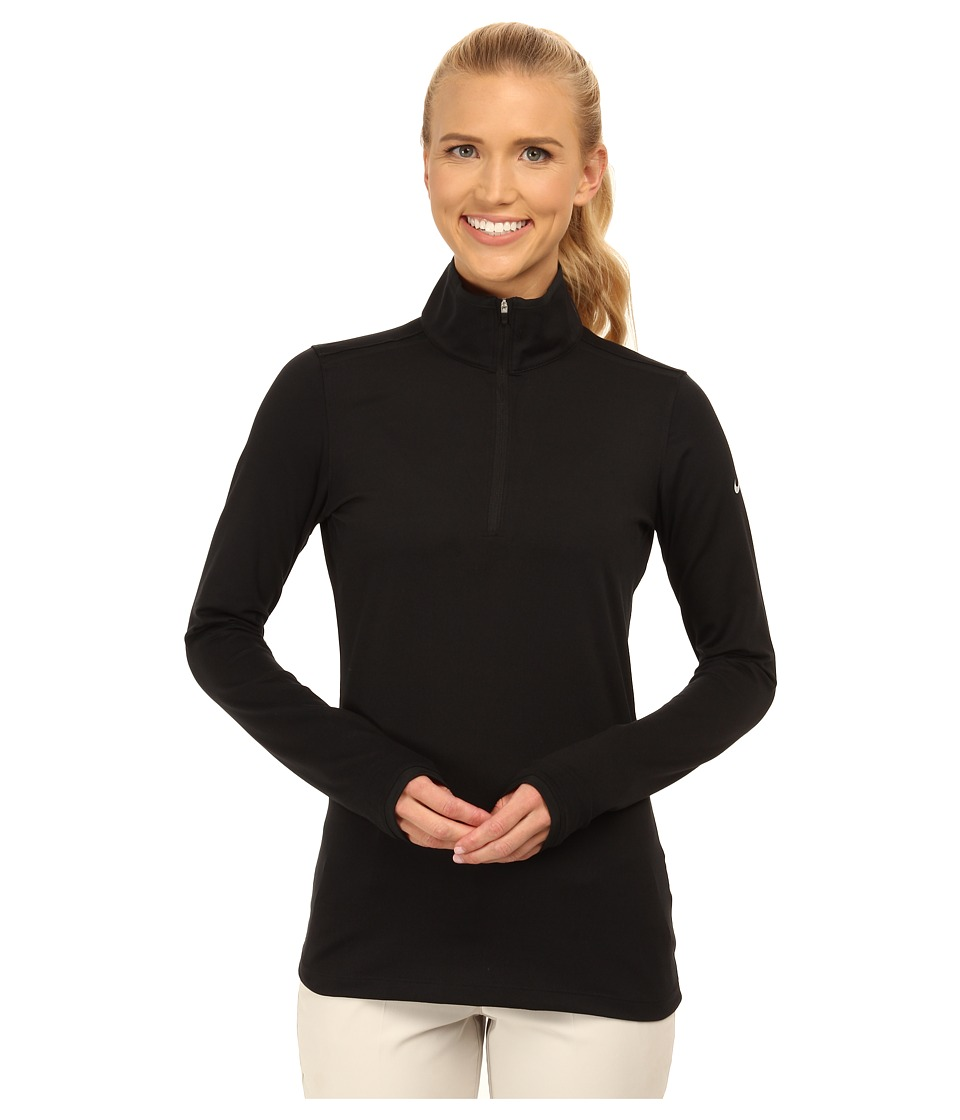 Nike Golf - Lucky Azalea Mesh 1/2 Zip (Black/Black/Dove Grey) Women's Long Sleeve Pullover