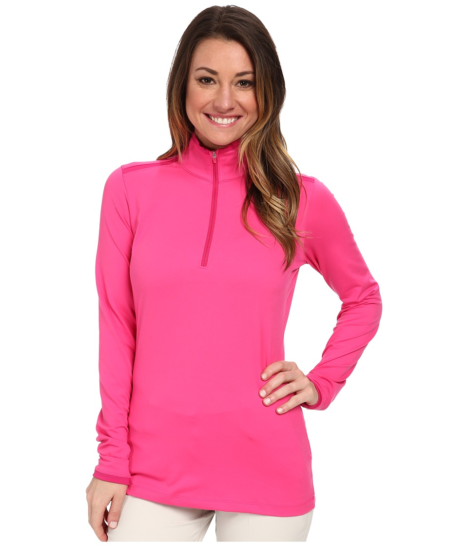 Nike Golf - Lucky Azalea Mesh 1/2 Zip (Hot Pink/Fireberry/Fireberry) Women's Long Sleeve Pullover