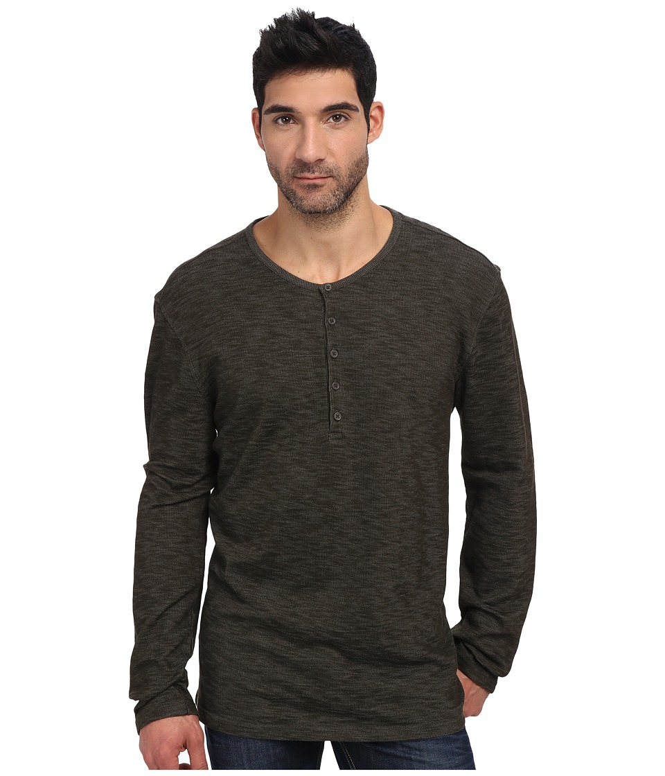 John Varvatos - L/S Henley (Army) Men