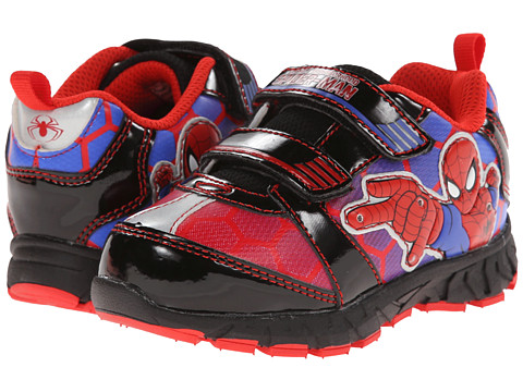 Favorite Characters - Spider-man 1SPS340 Athletic Sneaker (Toddler/Little Kids) (Black/Red) Boys Shoes