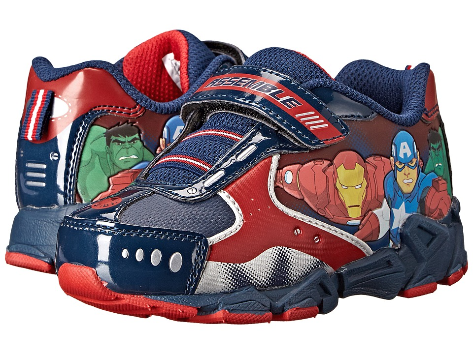 Favorite Characters - Avengers 1AVS311 Athletic Sneaker (Toddler/Little Kids) (Black/Red) Boys Shoes