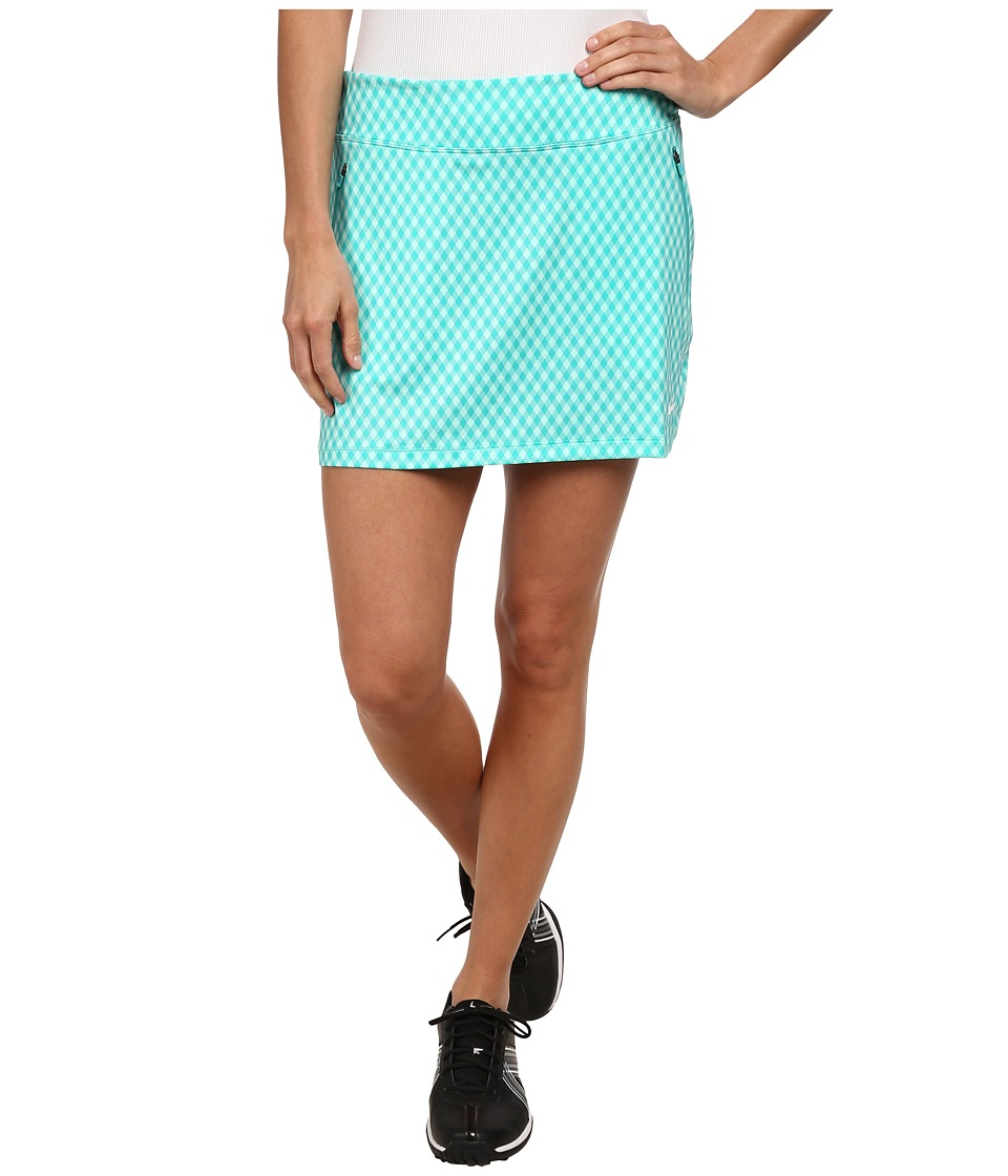 Nike Golf - Nike Gingham Flight Skort (Artisan Teal/Light Retro/Light Retro/White) Women's Skort
