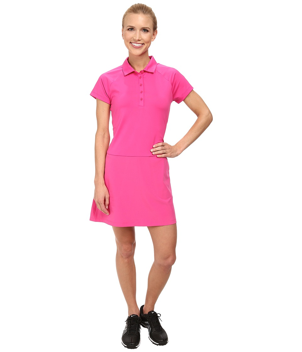 Nike Golf - S/S Polo Dress (Hot Pink/Pink Pow/Pink Pow) Women's Dress