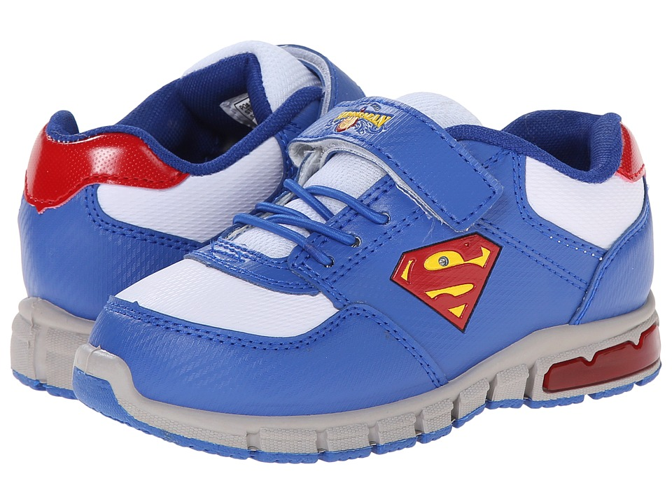 Favorite Characters - Superman 1SUS900 Athletic Sneaker (Toddler/Little Kid) (Royal/White) Boy's Shoes