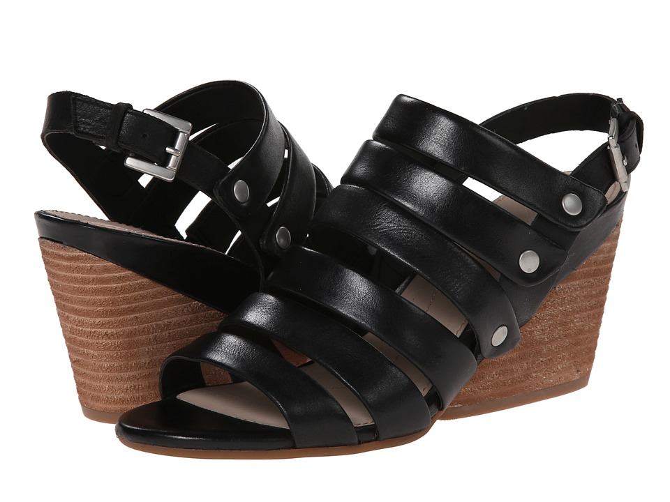 Naya - Lassie (Black Leather) Women's Wedge Shoes