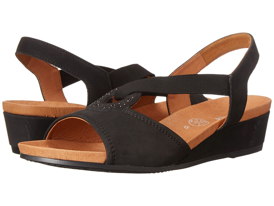 ara - Sutton (Black Nubuk) Women's Sling Back Shoes