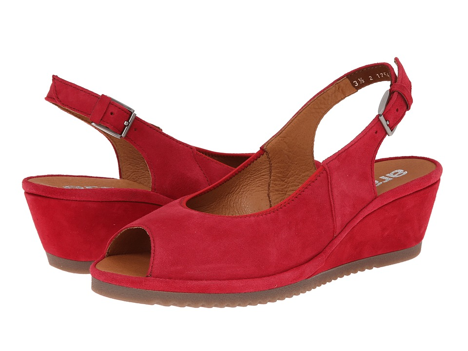 ara - Colleen (Red Suede) Women's Sling Back Shoes