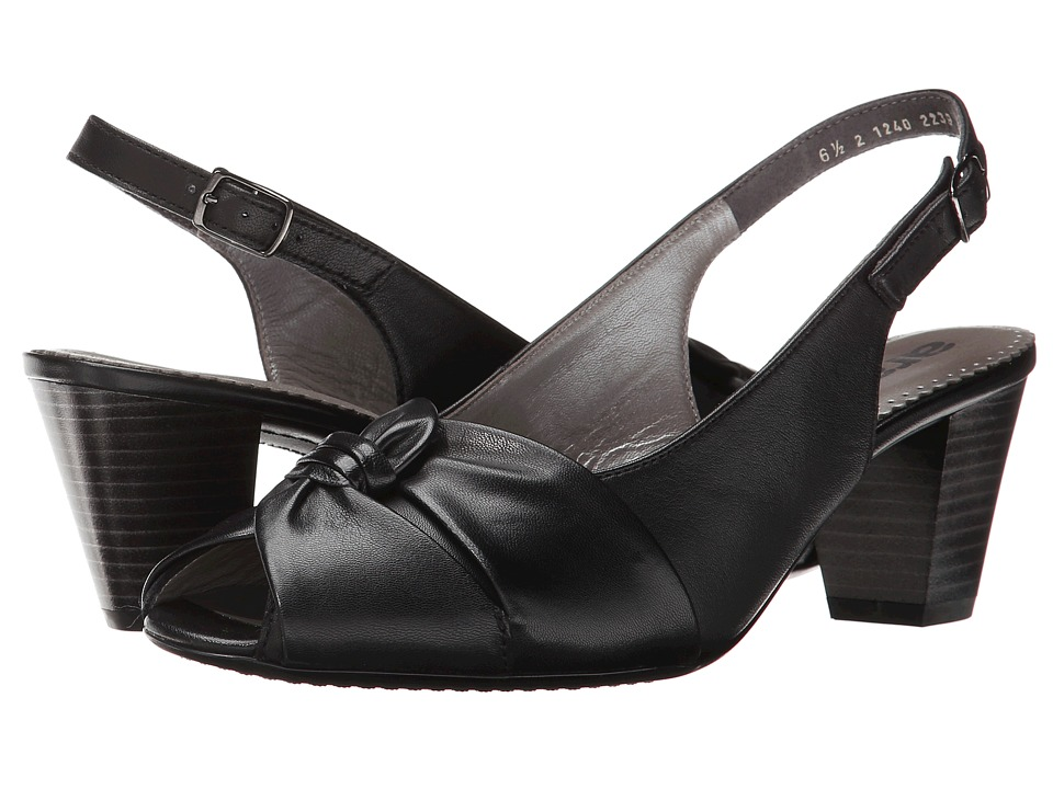 ara - Tilda (Black Leather) Women's Sling Back Shoes