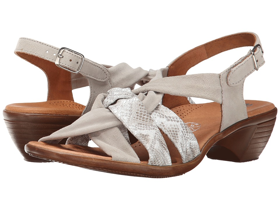 ara - Pinkie (Taupe Snake Print/Taupe Suede) Women's Sandals
