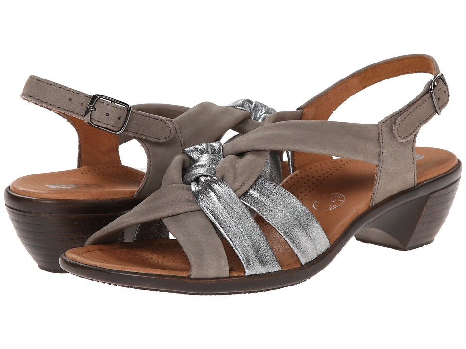 ara Pinkie (Gun Metallic/Grey Nubuk) Women