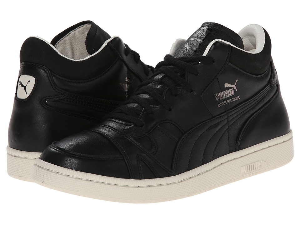 PUMA Sport Fashion - Becker Leather (Black) Men's Lace Up Cap Toe Shoes