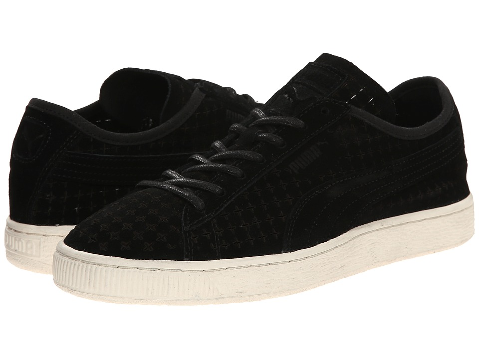 PUMA Sport Fashion - Suede Courtside Perf (Black) Men
